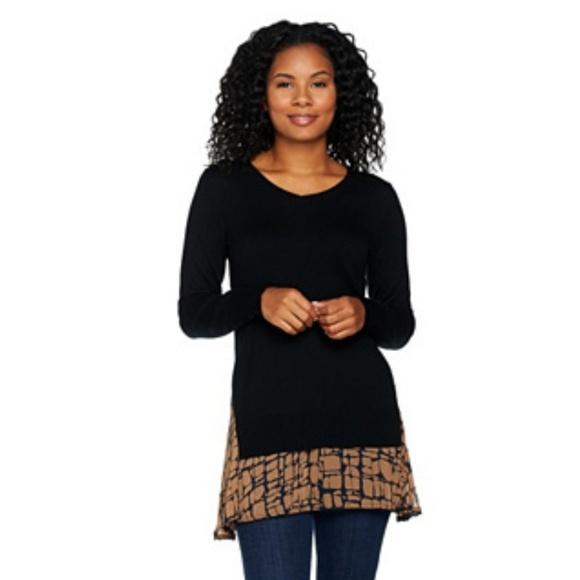 LOGO by Lori Goldstein Sweaters - LOGO by Lori Goldstein Cotton Cashmere  Sweater 9b6c7ddb7